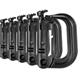 Tactical D-Ring Grimlock Carabiners for Molle Gear, Strong and Lightweight, Fast Latch System for Military Vest or…