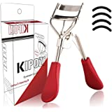 KIPOZI Eyelash Curler-Pro Lash Curler with Refills Long lasting & Natural Looking Curl Painless Fits All Eye Shapes Get Gorgeous Eyelashes in Seconds