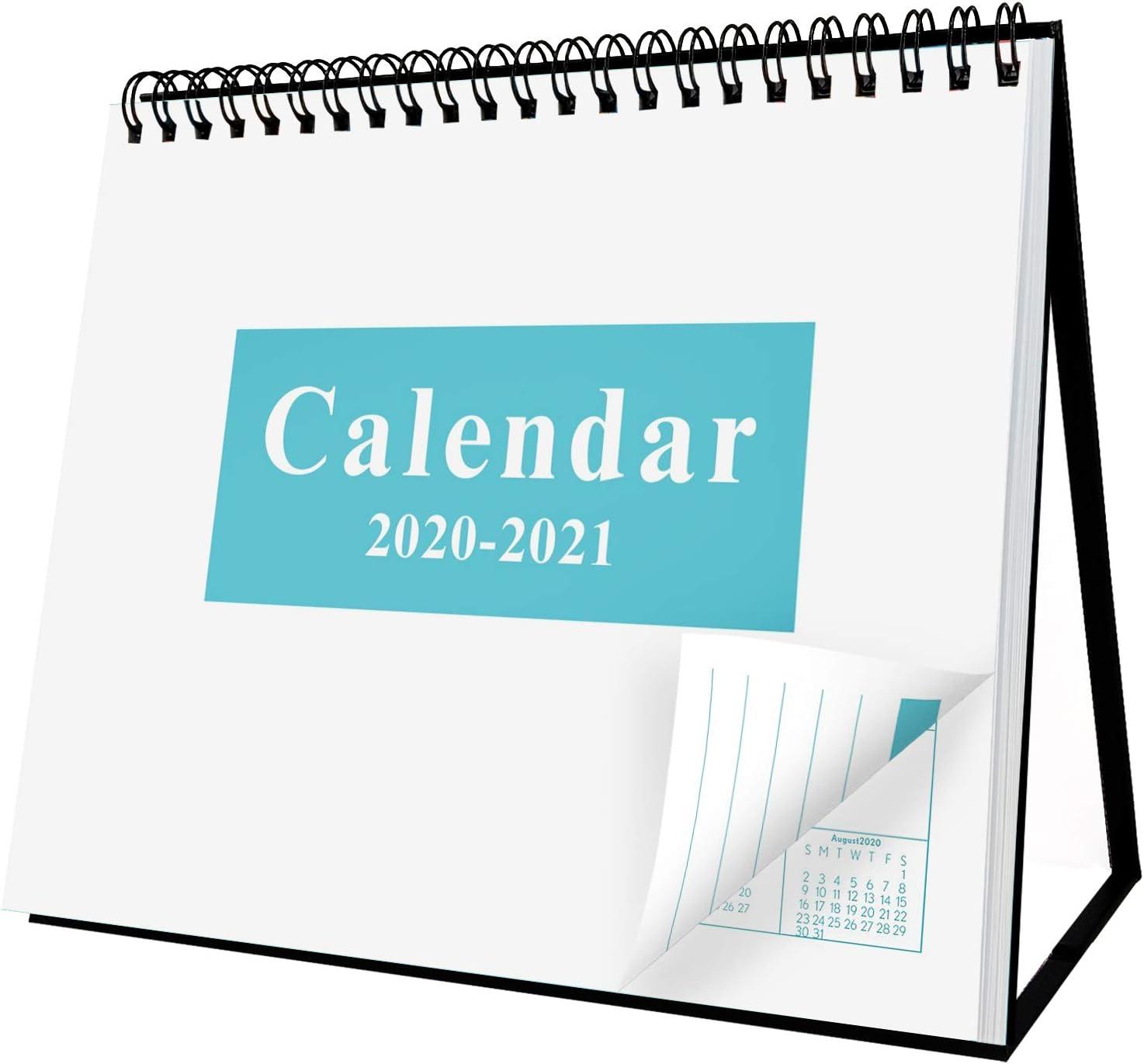 """Desk Standing Calendar 2020-2021 Desktop Flip Calendar 8"""" x 6"""""""