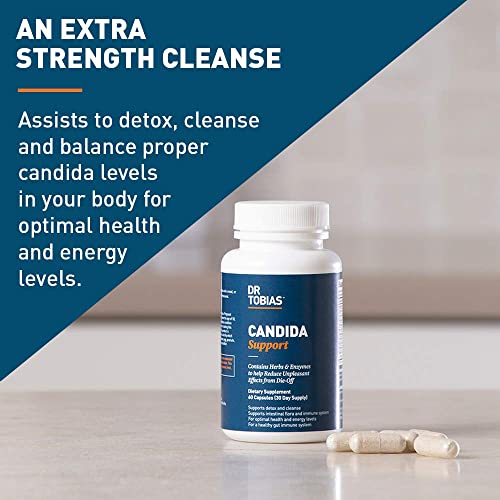 Dr Tobias Candida Support – Extra Strength Candida Cleanse – with Herbs Enzymes