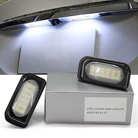 M-E-R-C-E-D-E-B B-E-N-Z Luces de la placa de matrícula 18-SMD LED Error libre para W203