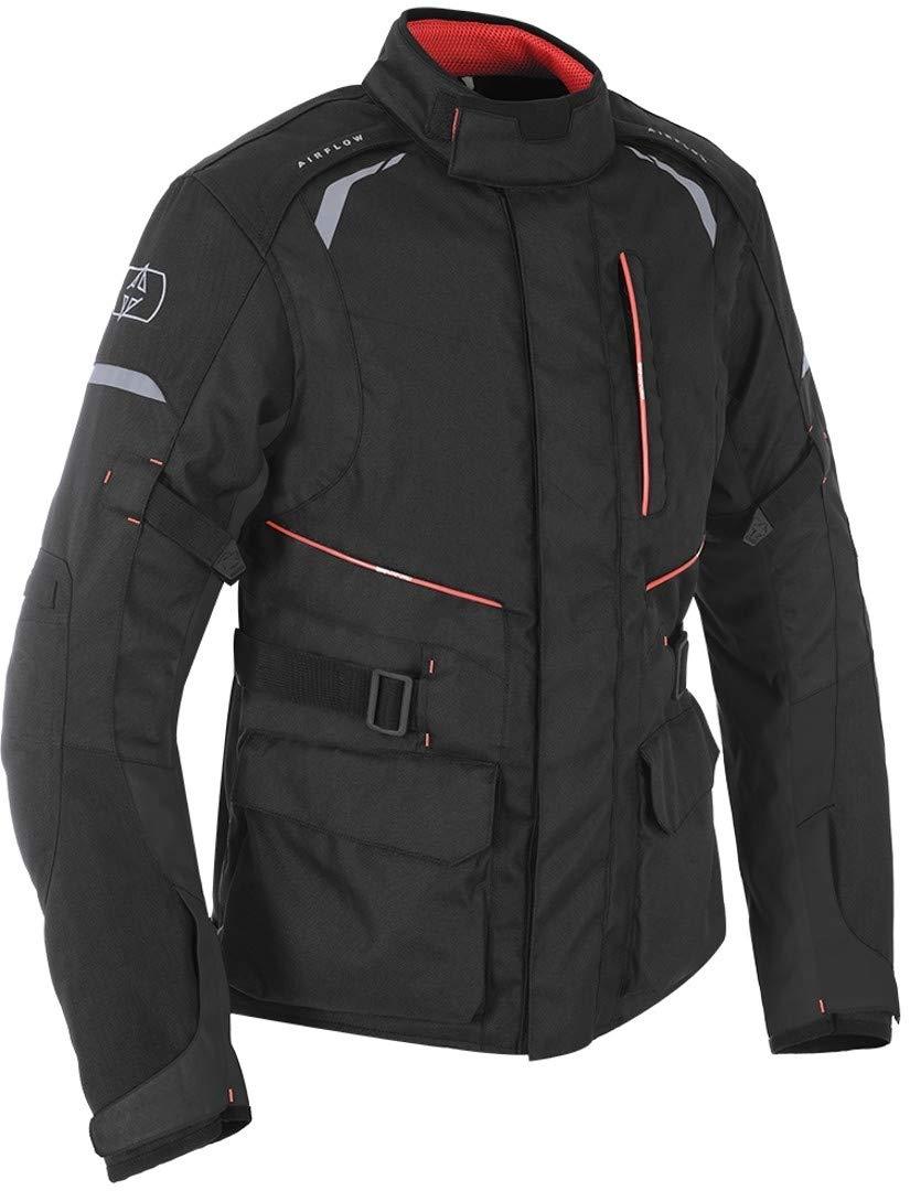 Tech Black Oxford Metro Mens Waterproof Textile Motorcycle Bike Jacket