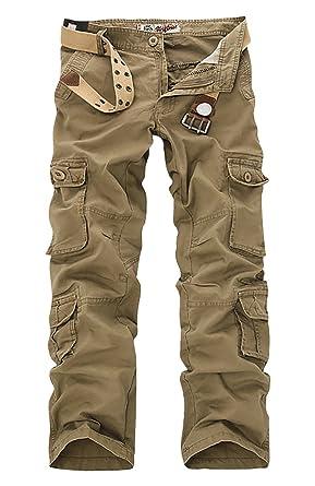 afa9ba07253 Panegy Adultes Combat Pantalon pour Homme Garcon Treillis Militaire Cargo  Armee...Ceinture