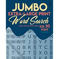 Jumbo, Extra-Large Print Word Search Puzzles - Vol. 1: Themed Puzzles for Adults & Seniors, Size 30-Font (LARGE PRINT)