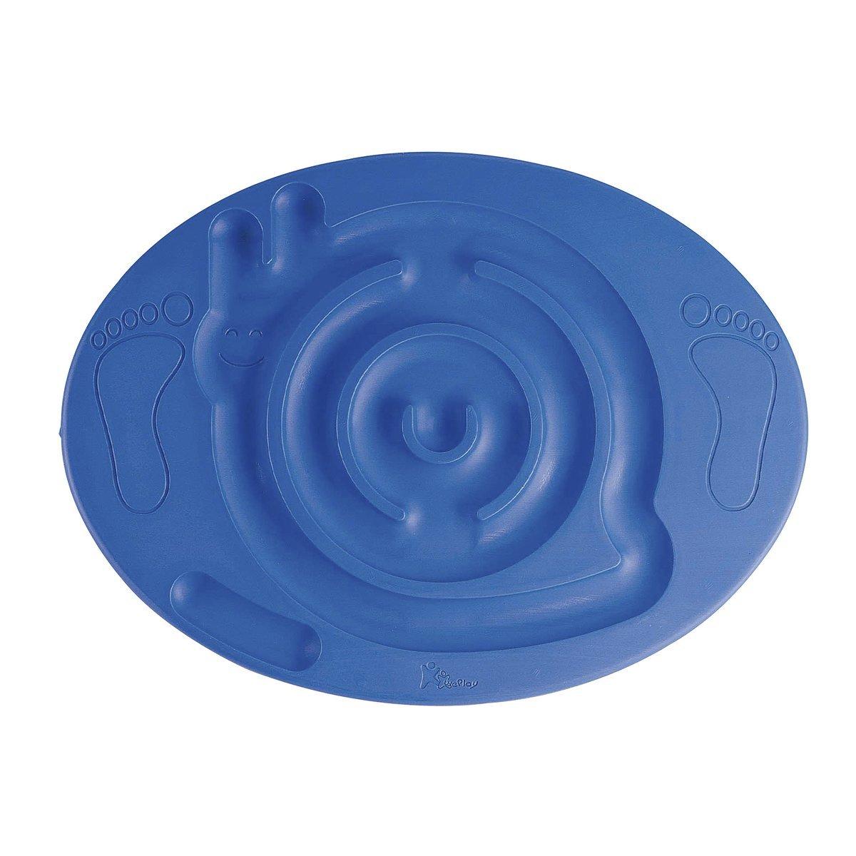 EDUPLAY Balance-Schnecke - Kinder-Spielzeug für Gleichgewichts-Training - von außen nach innen bewegbar - bis 60 kg belastbar - blau