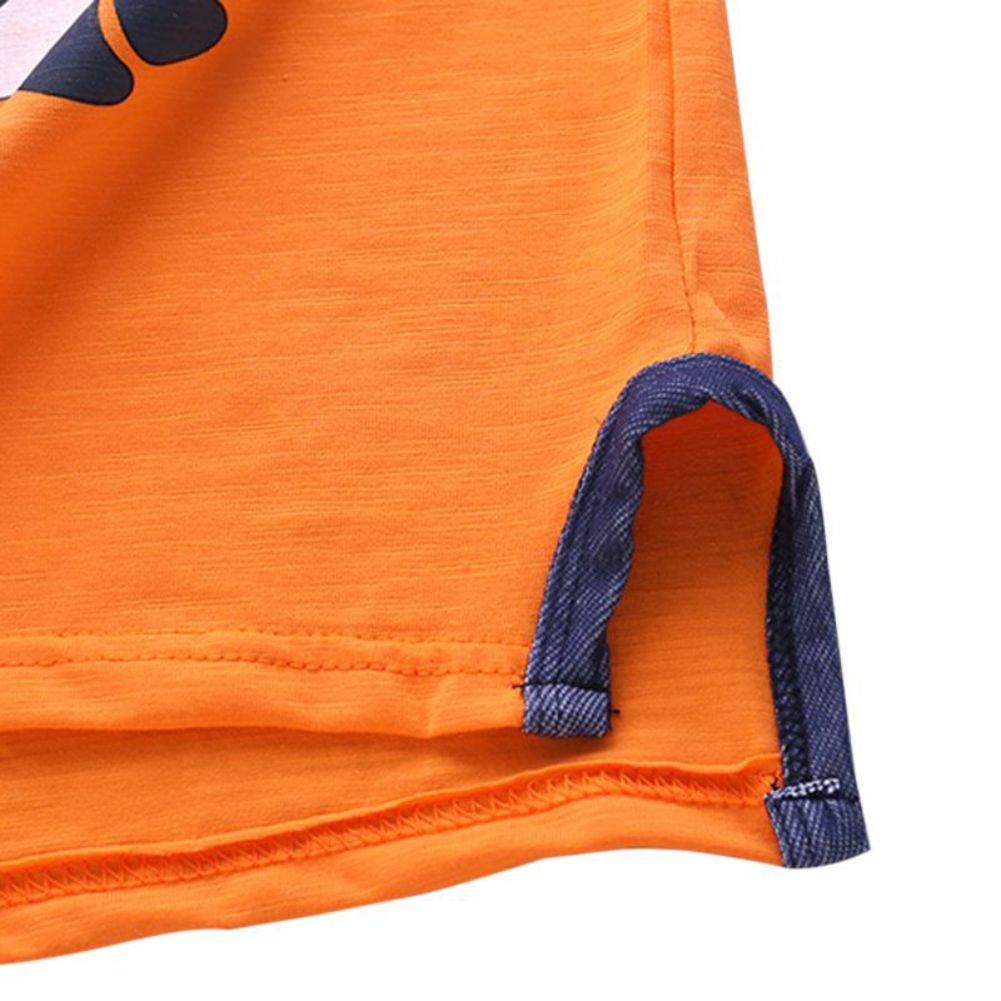 Gyratedream 2pcs Baby Girl//Boy Kids Clothing Set,Summer Baby Boy Girl Cartoon Dinosaurs Print Short Sleeve Jeans Denim Shorts 2 Pcs Outfits Clothes,0-4 Years