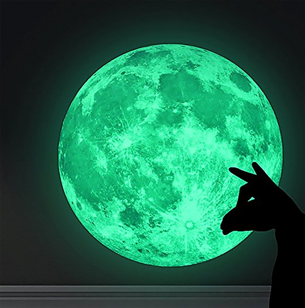 Marsway Kids Removable Moon Stars Glow in The Dark