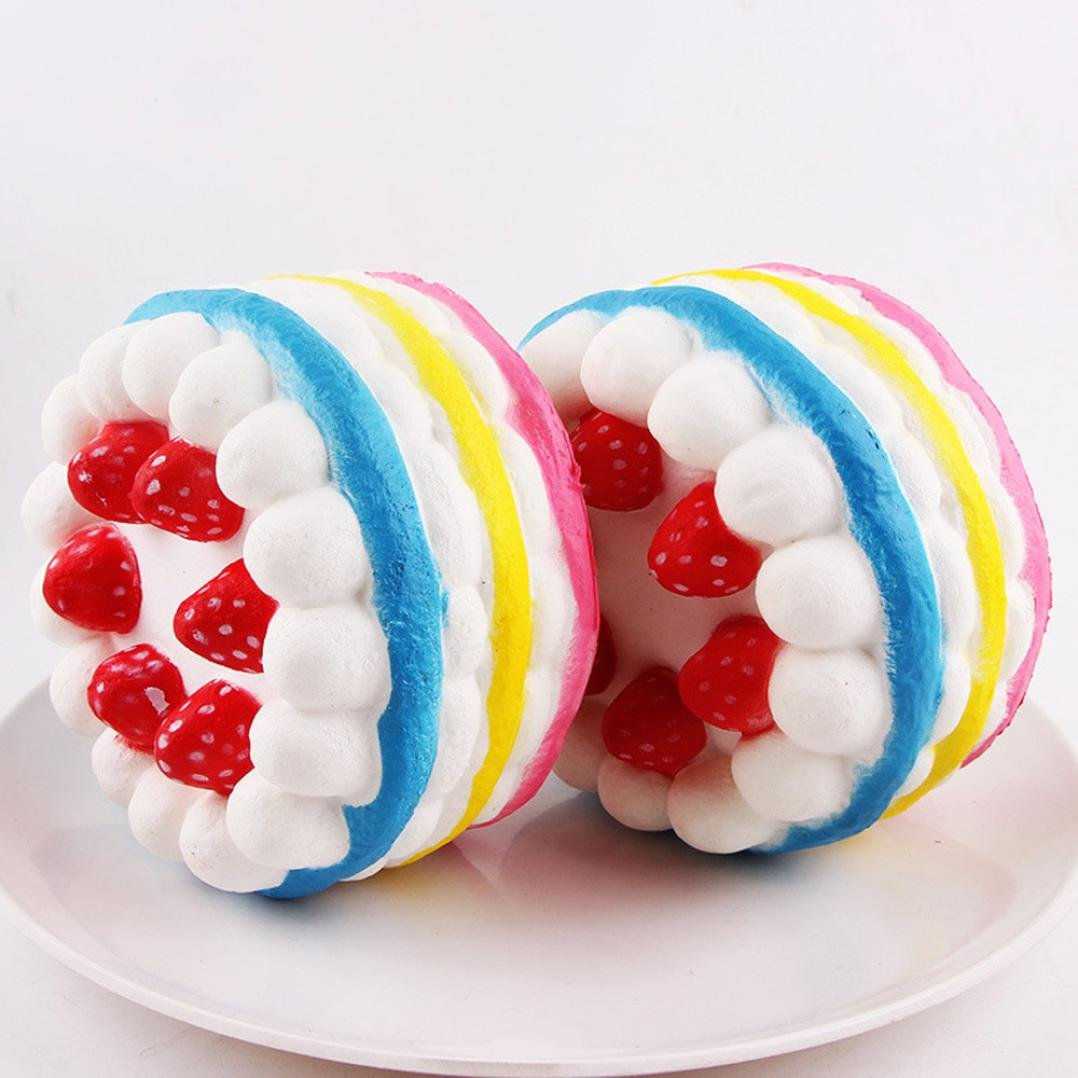 Colorful YRD TECH Stress Reliever Strawberry Cake Scented Super Slow Rising Kids Toy Cute
