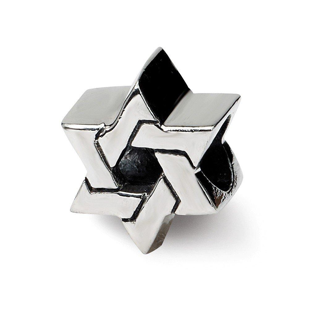 De réflexions en argent Sterling Perle-Etoile de David-JewelryWeb