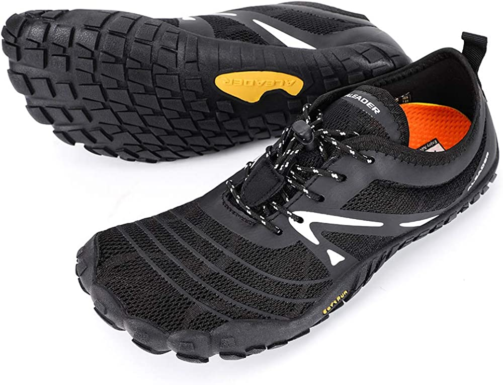 ALEADER Men's Minimalist Trail Running Shoes Barefoot Wide Toe Zero Drop
