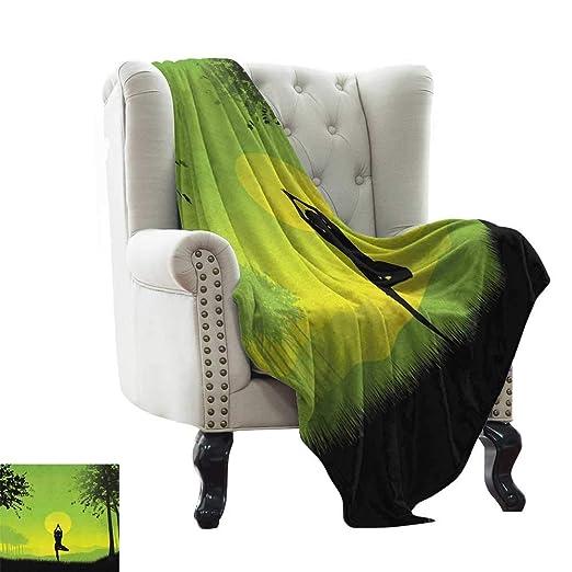 LsWOW Manta de plumón para Yoga, meditación para Dama bajo ...