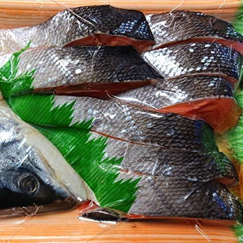 産直丸魚  北海道産 ときしらず 塩鮭 切り身 (半身・訳1.2kg入)   トキシラズ 時鮭 オオメマス 鮭 さけ 塩鮭 新巻鮭