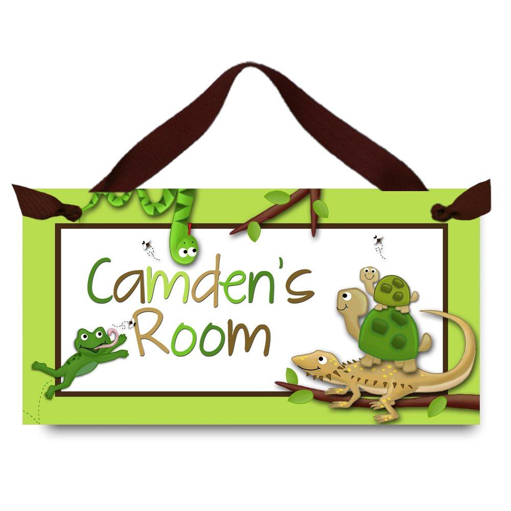 Amazon.com: Reptil Kids Sala de juegos Cartel para puerta de ...