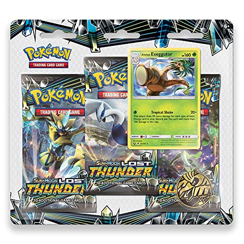 Pokemon TCG: Sun & Moon - Lost Thunder, Blister Pack Containing 3 Booster Packs and Featuring a Foil Promo Exeggutor