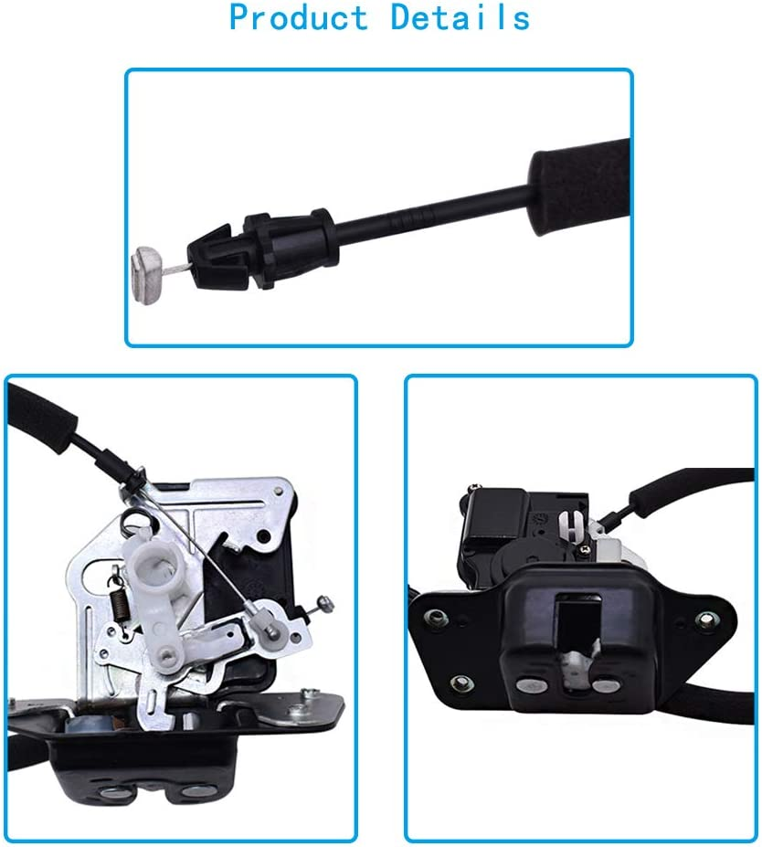 labwork Trunk Lock Actuator Motor Tail Gate Latch with Cable 4589131AG 4589131AF Fit for 2005-2017 Jeep Grand Cherokee Compass Dodge Durango Nitro