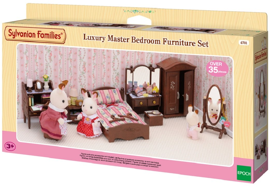 Sylvanian Families 4701 Luxury Master Bedroom Furniture Set: Amazon.co.uk:  Toys U0026 Games