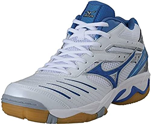Mizuno Zapatillas de Voleibol Para Mujer White-Blu- Azzurro 37: Amazon.es: Zapatos y complementos