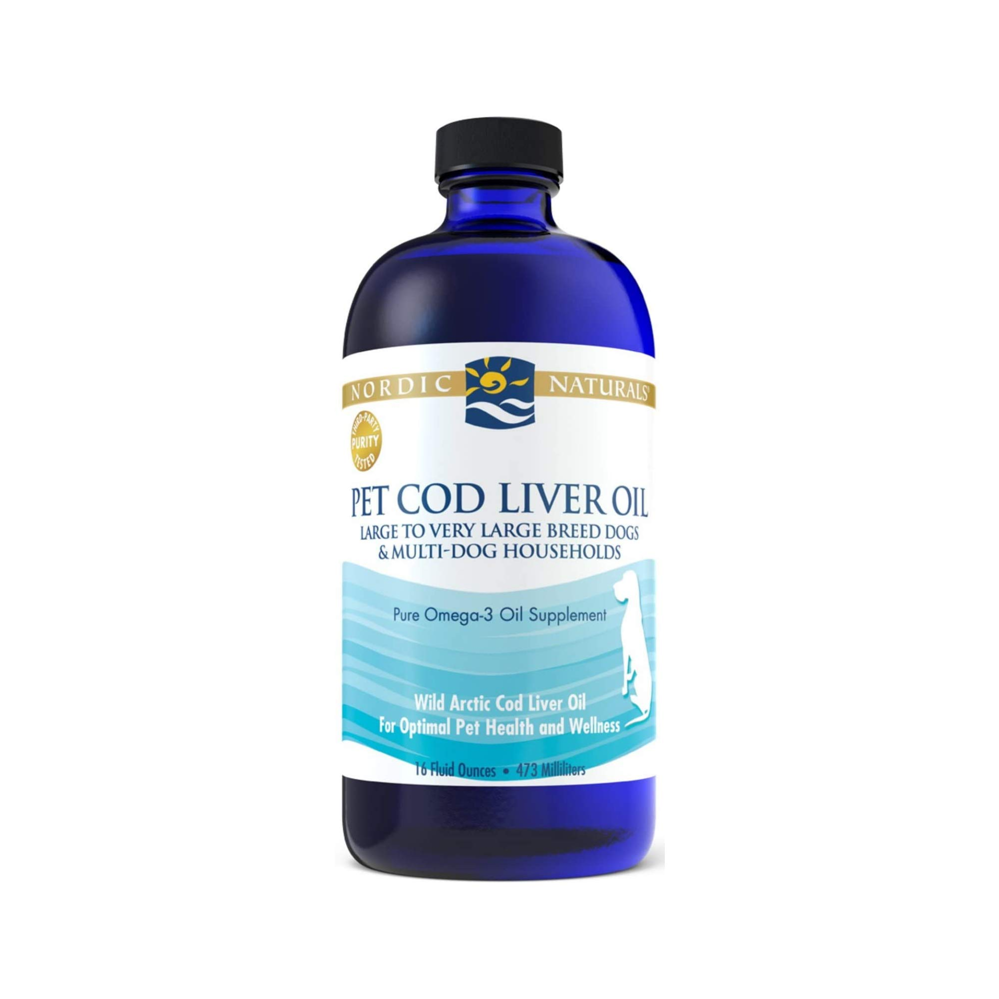 Nordic Naturals Pet CLO Supplement - Cod Liver Oil Omega 3s, DHA, EPA, Promotes Skin, Coat, Joint and Heart Health and Vitamin A for Vision, Fetal Development and Wellness