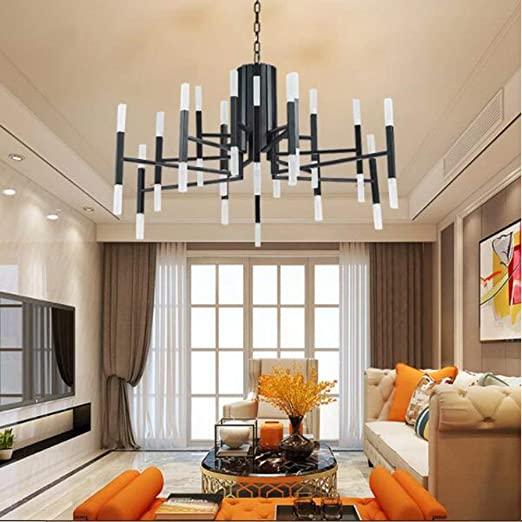 Sweety House Modern Metal 24 Black Chandelier LED Black ...