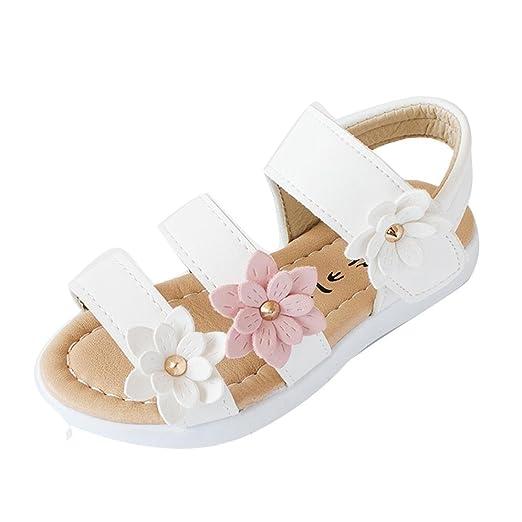 80c38f103de Sandalias niña verano ❤ Amlaiworld Zapatillas Zapatos planos de chicas Flor Sandalias  para niñas calzado Zapatos de vestir Zapatos Princesa: Amazon.es: ...