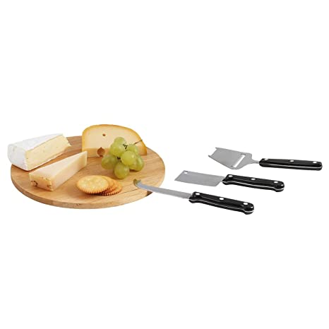 Quesera redonda Queso Cuchillo de queso con tabla Acero ...