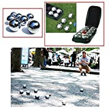 NEW 8PC X STEEL FRENCH BOULES PETANQUE BALLS JACK WITH CARRY CASE FUN PARTY PUB GARDEN LAWN GAME SET PACK OF 8 PC PIECE by ZANBEEL