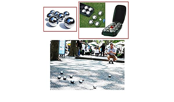 Amazon.com: NEW 8PC X STEEL FRENCH BOULES PETANQUE BALLS JACK WITH CARRY CASE FUN PARTY PUB GARDEN LAWN GAME SET PACK OF 8 PC PIECE by ZANBEEL: Toys & Games