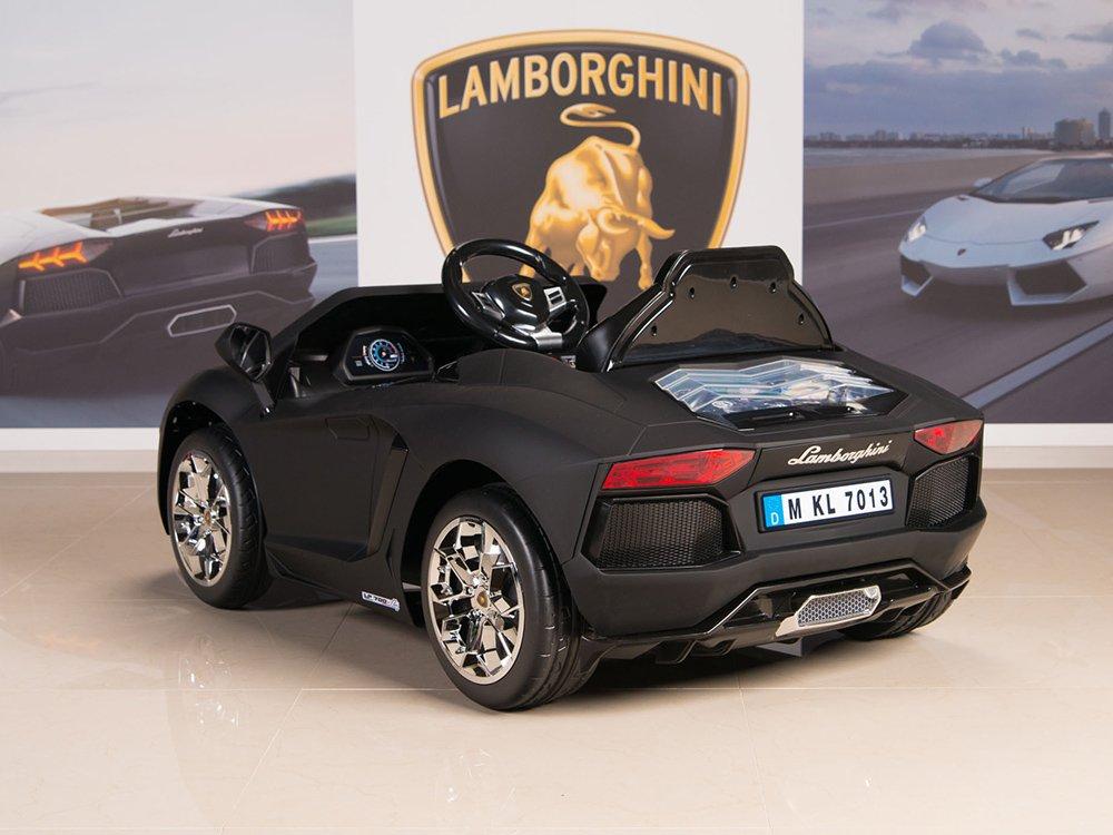 Amazon.com: Lamborghini Aventador 12V Kids Ride On Battery Powered Wheels  Car RC Remote Black: Toys U0026 Games