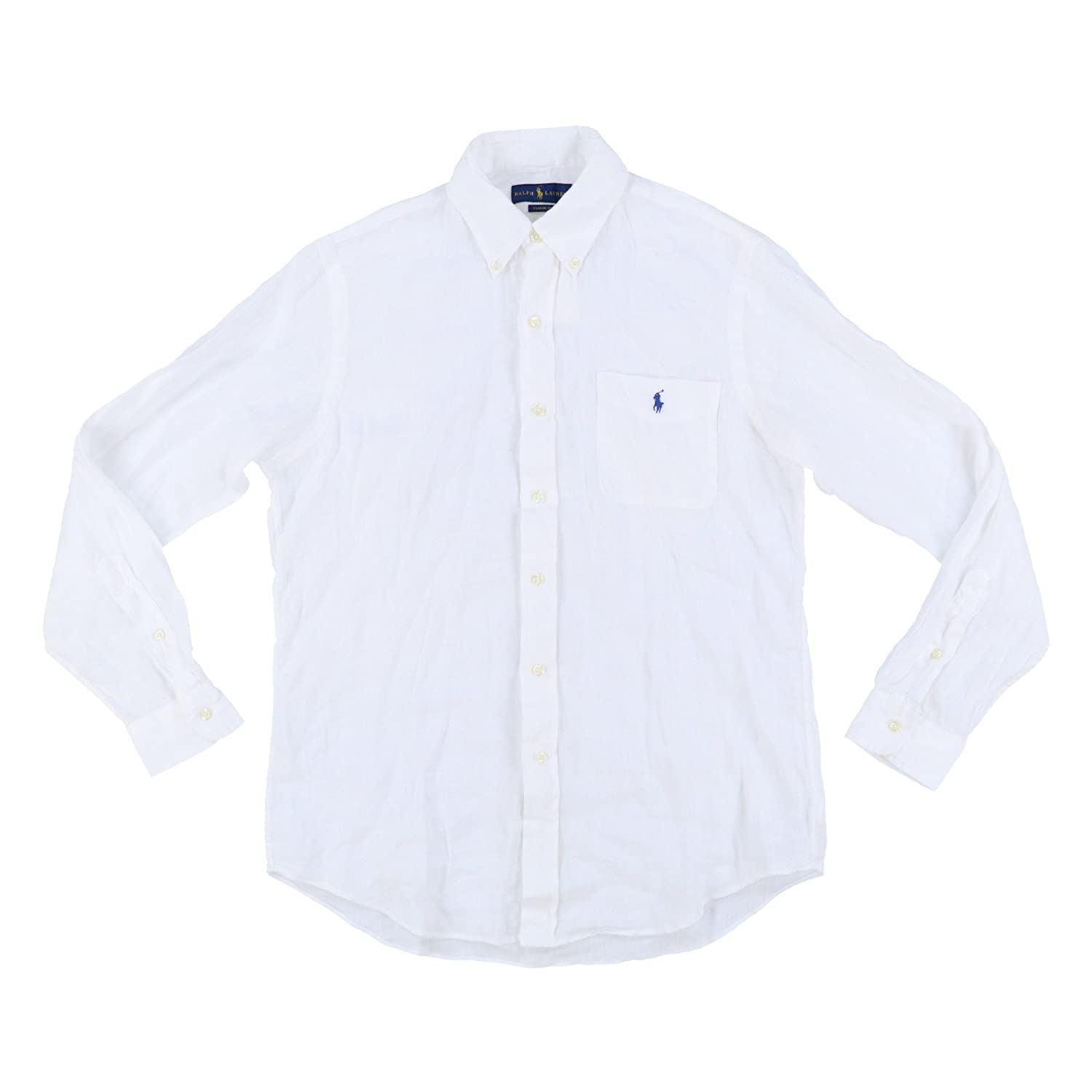 852b6b3f RALPH LAUREN Mens Button Up Long Sleeve Linen Shirt