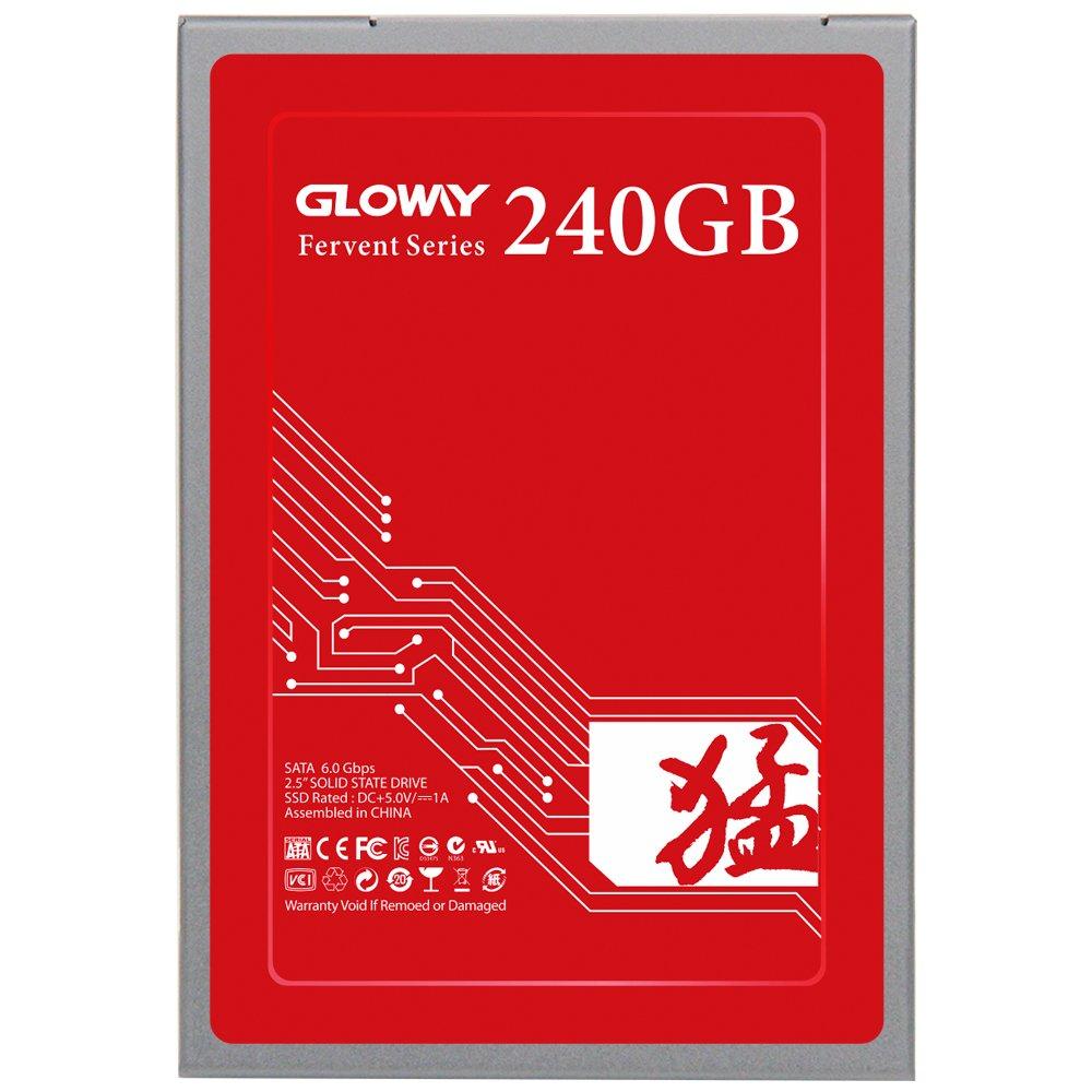 Memoria SSD Fervent SATA 3 2.5 de Gloway, compatible con Windows, placa base de escritorio Intel AMD y portá til, 7 mm de altura 240 GB 240G placa base de escritorio Intel AMD y portátil B01EHSN2BE