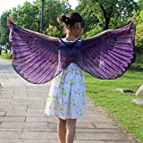 NUWFOR Halloween/Party Prop Soft Fabric Butterfly Wings Shawl Fairy Ladies Nymph Pixie Costume Accessory ?Purple