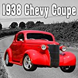 1938 Chevy Coupe Reverses up Slowly from Right, Stops, Idles & Shuts Off