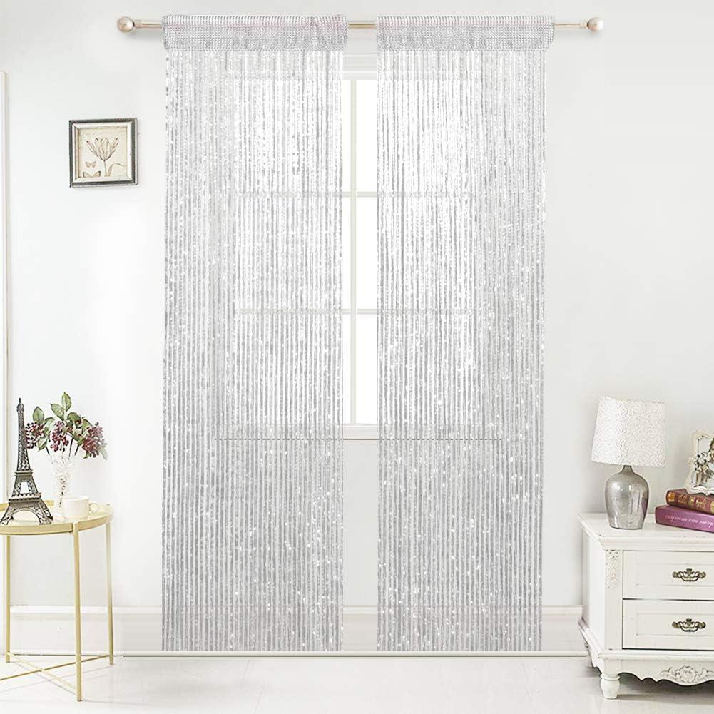 10 Pcs Hanging Beaded Curtain String Door Window Curtains Tassel Fly Screen