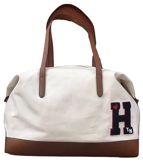 fbe284c1e Tommy Hilfiger - Bolso de tela de Lona para mujer beige beige Large:  Amazon.es: Zapatos y complementos