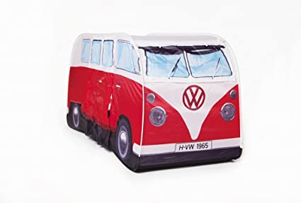 184 & The Monster Factory VW Volkswagen T1 Camper Van Kids Pop-Up Play Tent - Red - Multiple Color Options Available
