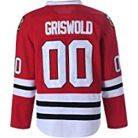 Youth Clark Griswold #00 X-Mas Christmas Vacation Movie Ice Hockey Jersey