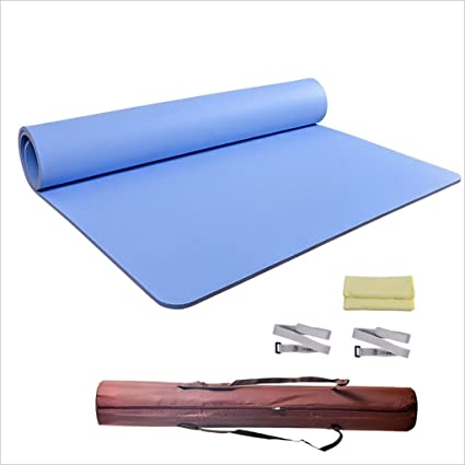Amazon Com Widen Large Space Two Person Yoga Mat Tasteless Tpe Material Children S Dance Mat Beginners Yoga Mats Absorbent Non Slip Yoga Mat Fitness Yoga Mat Protect Joints 1831220 8cm Color Blue