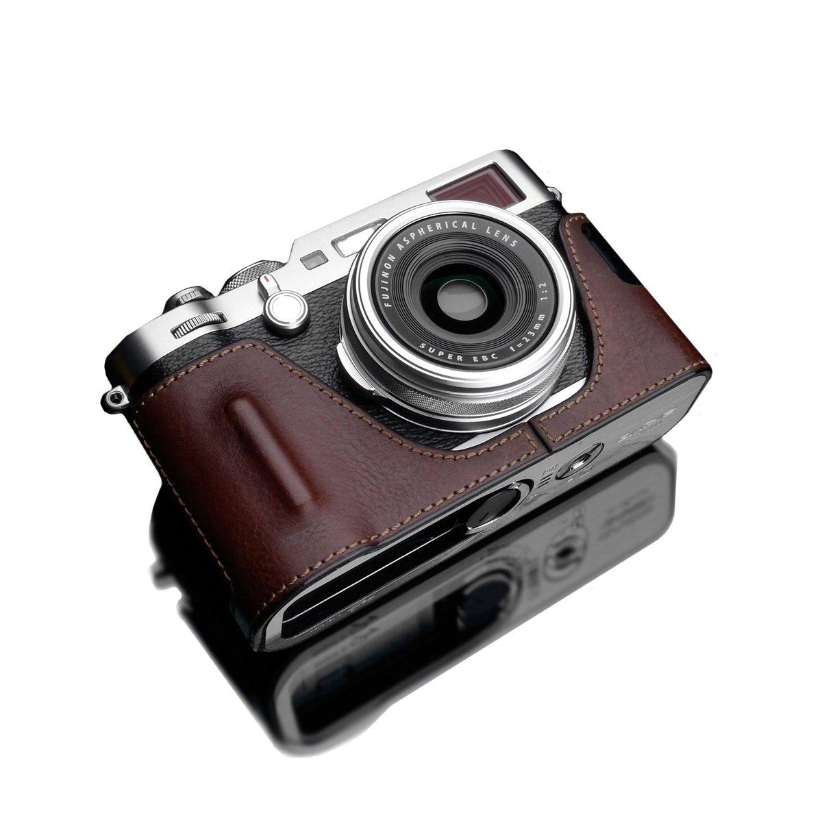 GARIZ FUJIFILM X100F用 本革カメラケース XS-CHX100FBR ブラウン  ブラウン B06Y5YK51N