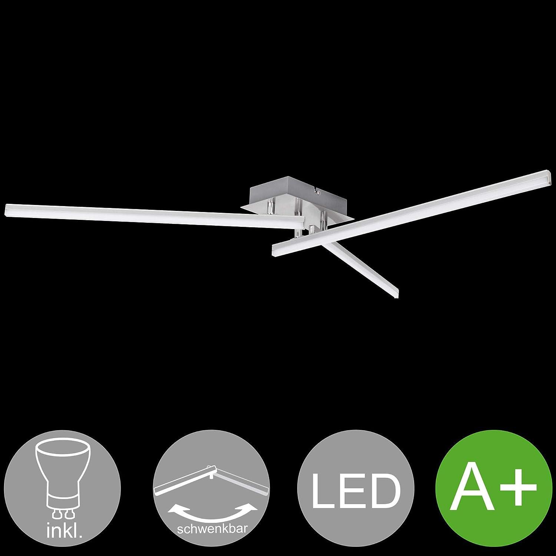 Wohnling Ambar LED-Deckenlampe, Aluminium, Silber, 14x12x58 cm