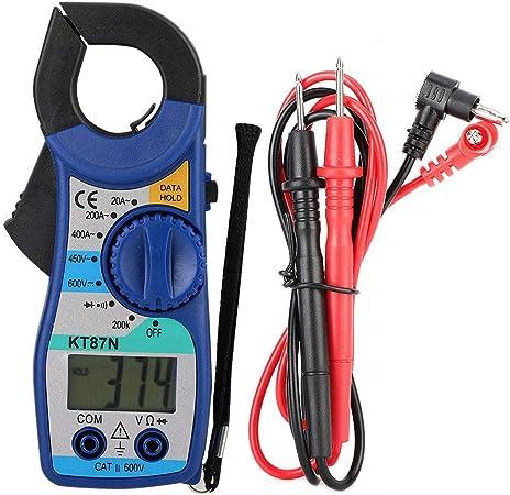 KT87N 600V//450V DC//AC Digital Clamp Meter 20-400A Amper/ímetro Mult/ímetro digital con pantalla LCD para pruebas de equipos el/éctricos Mult/ímetro