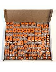 Wago - Juego de conectores de cable en caja resellable: 25 de 221-412, 221-413, 221-415
