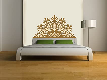 Headboard decalelegant vinyl wall sticker gold metallic queen 60