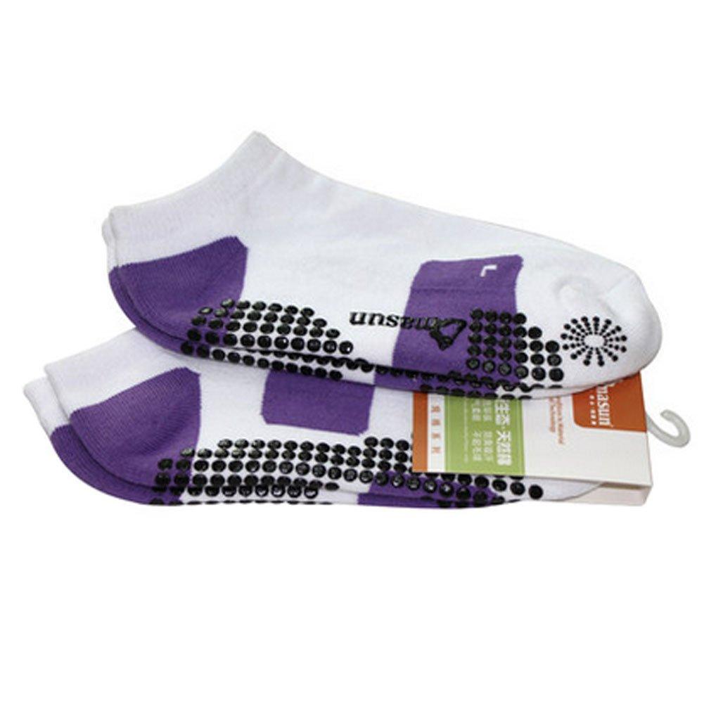 Girls Yoga Non Slip Socks Strong Grip Breathable Pilates Socks, Purple Kylin Express