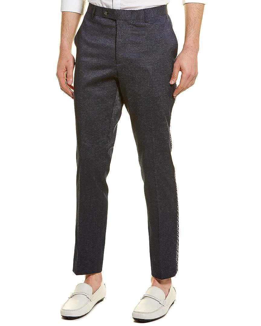 40 Blue Paisley /& Gray Mens Brent Skinny Fit Tuxedo Pant