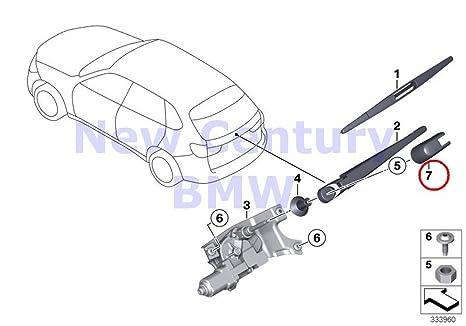BMW Original piezas únicas para limpiaparabrisas trasero Limpiaparabrisas para X5 35dx X5 35i X5 35ix X5