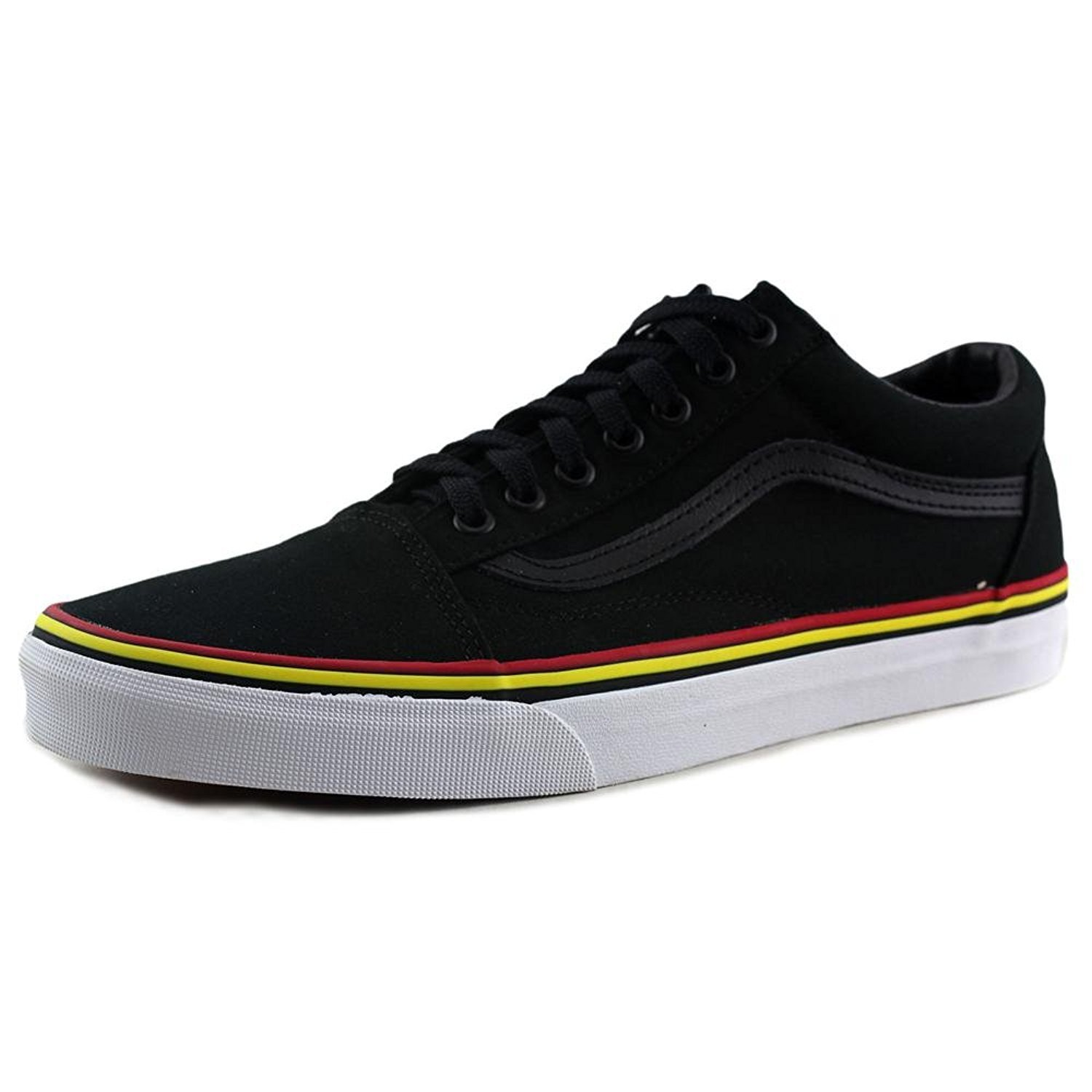 Vans Unisex Old Skool Classic Skate Shoes B01BHC6BMU 6 Men/ 7.5 Women|Black/ Red/ Yellow