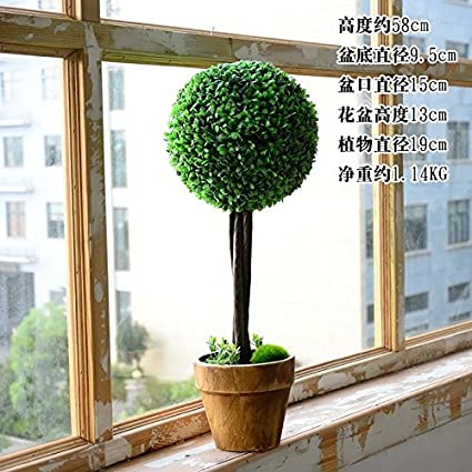 WANG-shunlida fiori finti Fresco giardino di piante in vaso di ...
