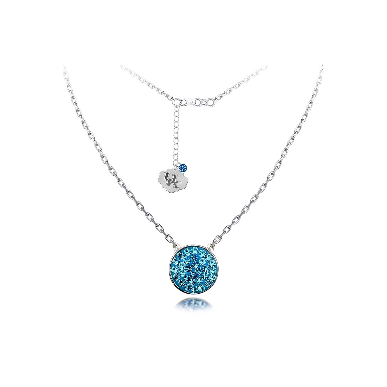 DiamondJewelryNY Silver Pendant Spirit Disc Nk//Univ of Kentucky