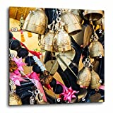 3dRose Danita Delimont - Objects - Thailand, Phuket Island, Bells of Faith at Phuket Big Buddha - 10x10 Wall Clock (dpp_276969_1)