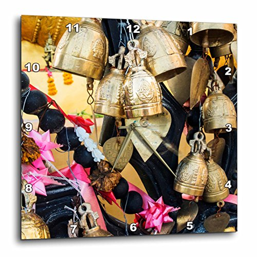 3dRose Danita Delimont - Objects - Thailand, Phuket Island, Bells of Faith at Phuket Big Buddha - 10x10 Wall Clock (dpp_276969_1) by 3dRose